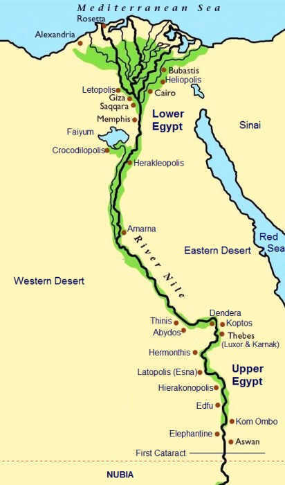 Map Of Ancient Egypt A Journey Through Ancient Egypt - Egypt map